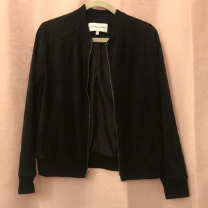 Cupcakes and Cashmere Suede Bomber Jacket